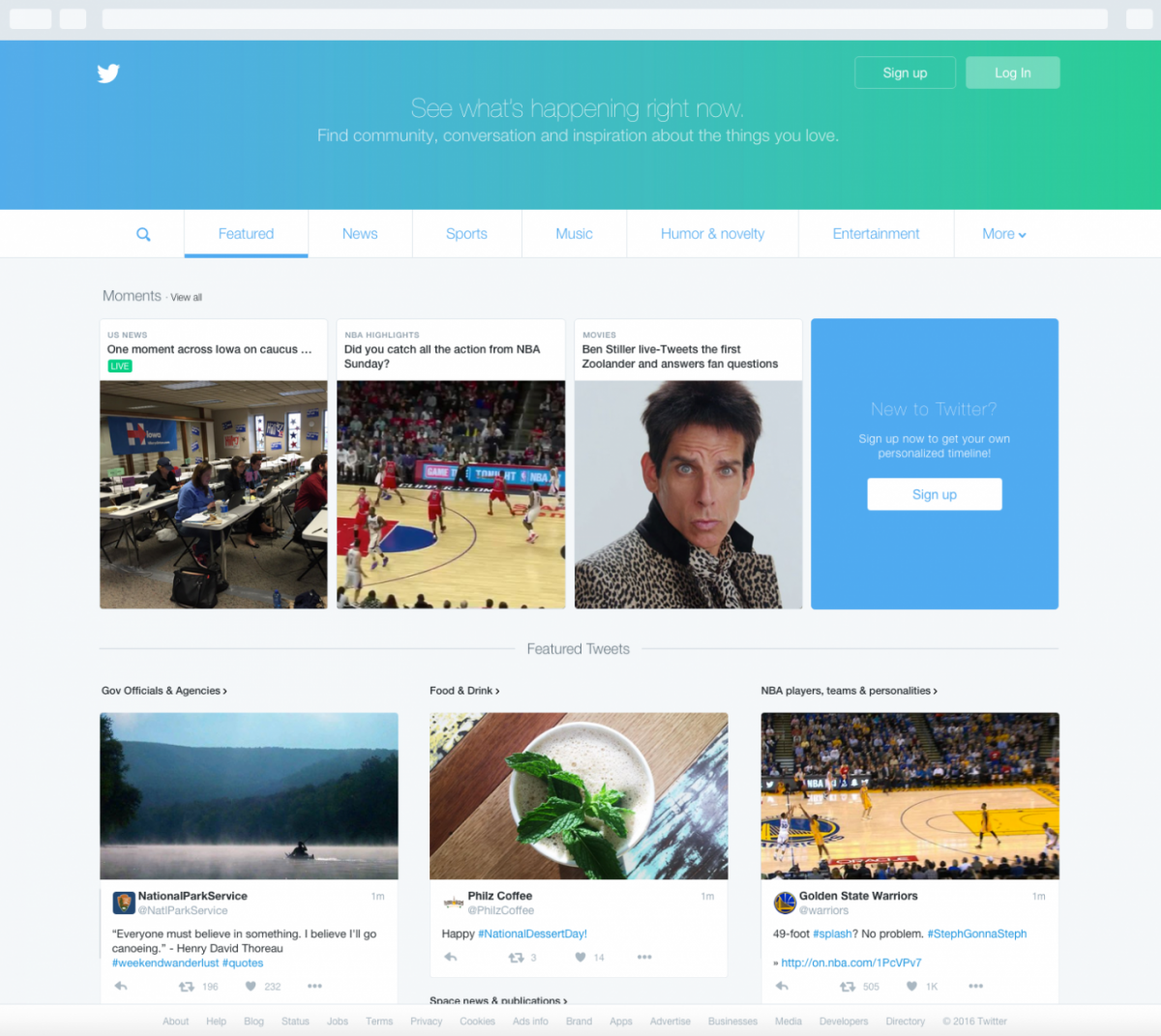 Twitter launches new homepage to engage offline and new users