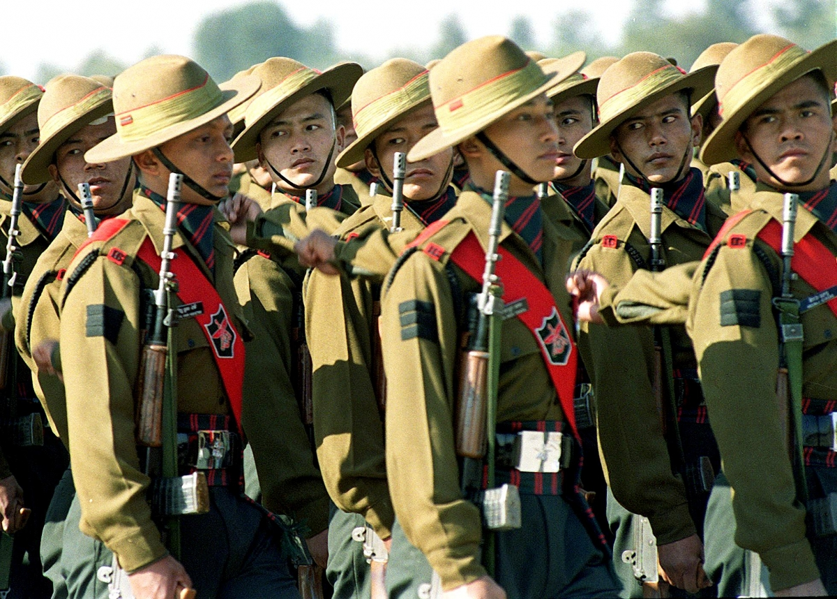 Gurkha regiment in India