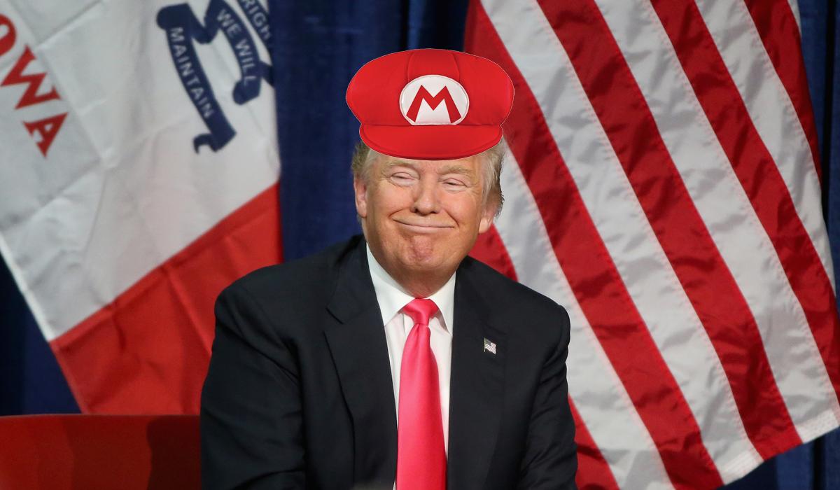 Donald Trump Mario Hat