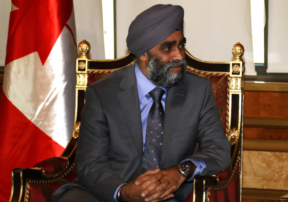 Canada defence minister Harjit Sajjan