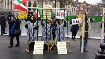 protests outside London Syria conference