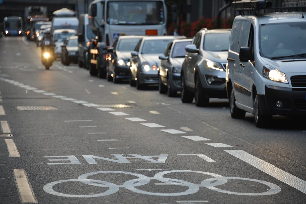 London traffic jam