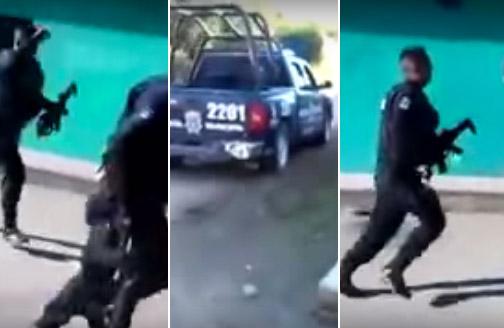 Mexico police run