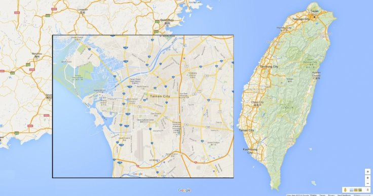 Taiwan and Tainan city map