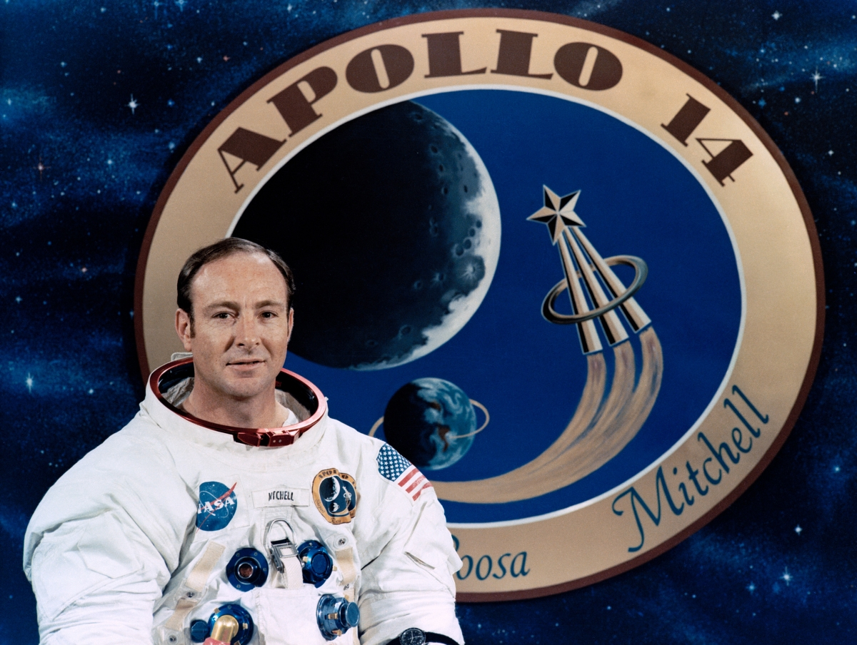 US astronaut Edgar Mitchell