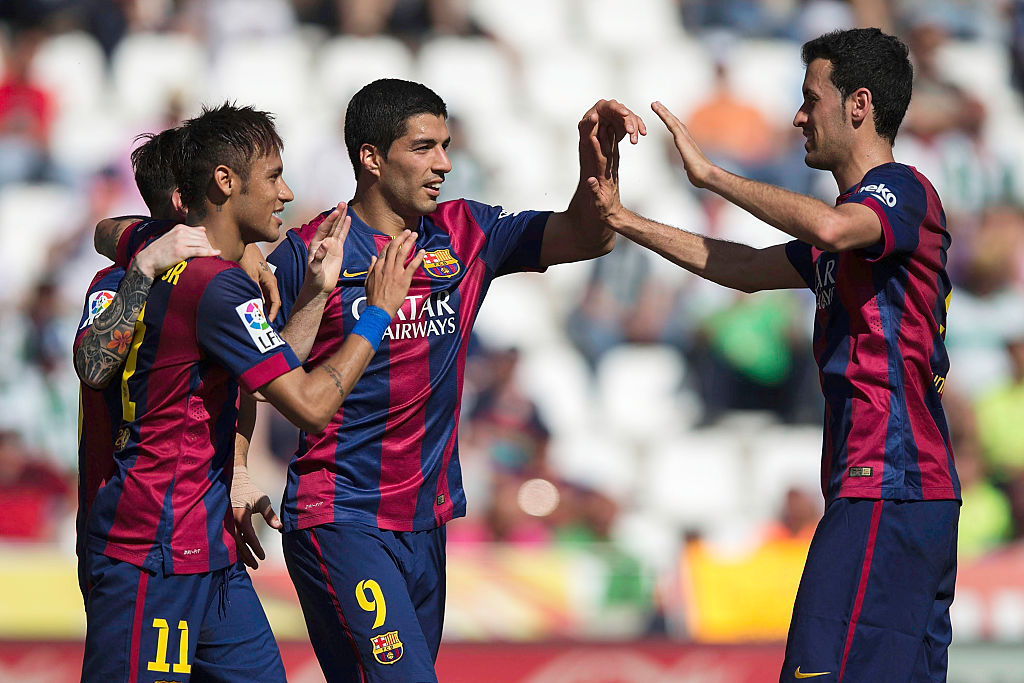Sergio Busquets and Neymar