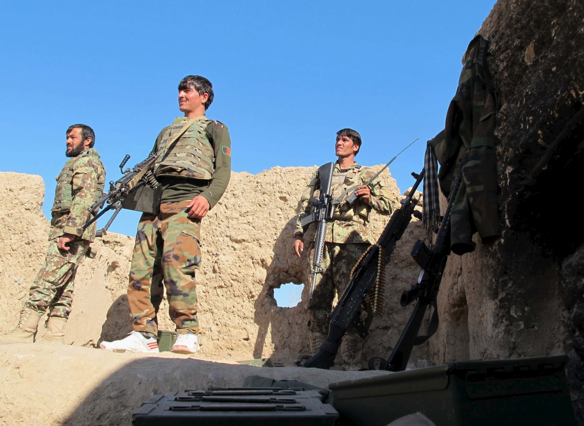 Afghan National Army soldiers in Helmand