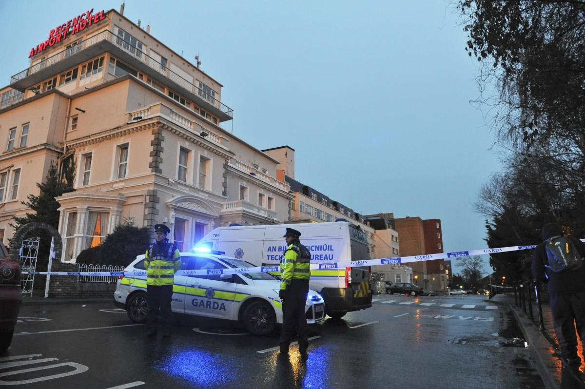 Dublin Police at the Regency Hotel