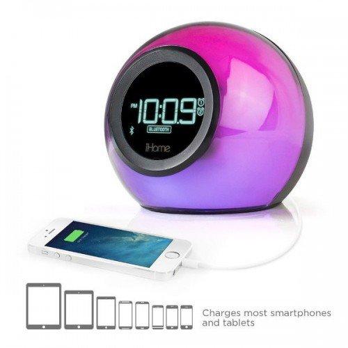 iHome Bluetooth Glowtunes Alarm Clock Radio
