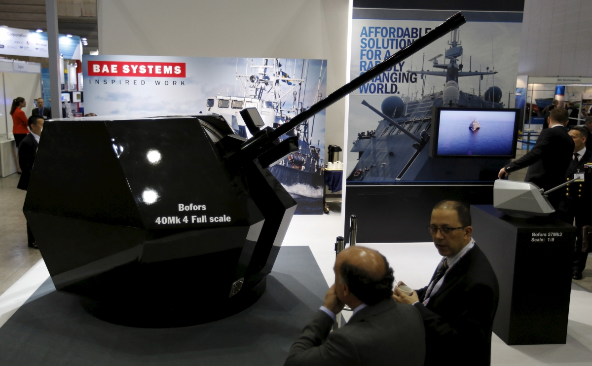 BAE Systems futuristic guns could help get new orders from the U.S military