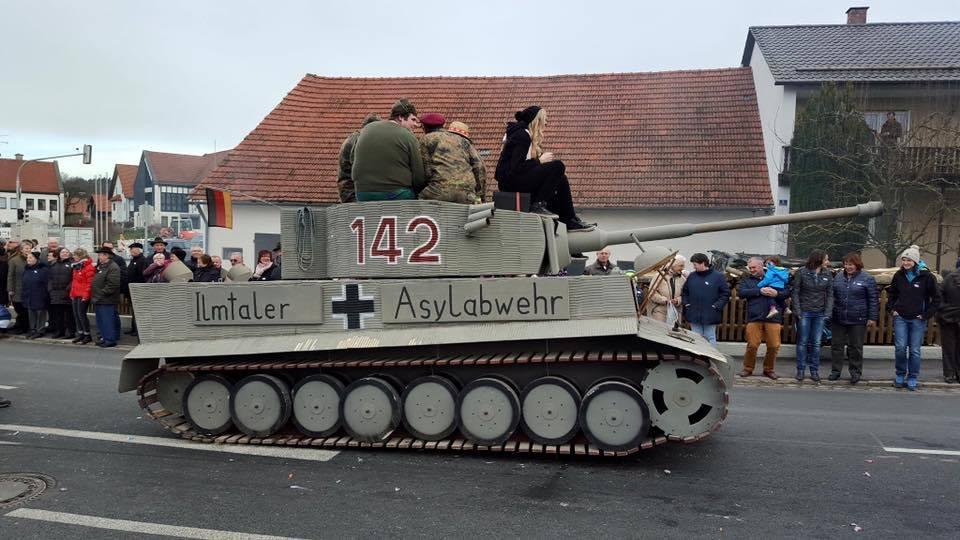 The tank marked with Balkenkreutz