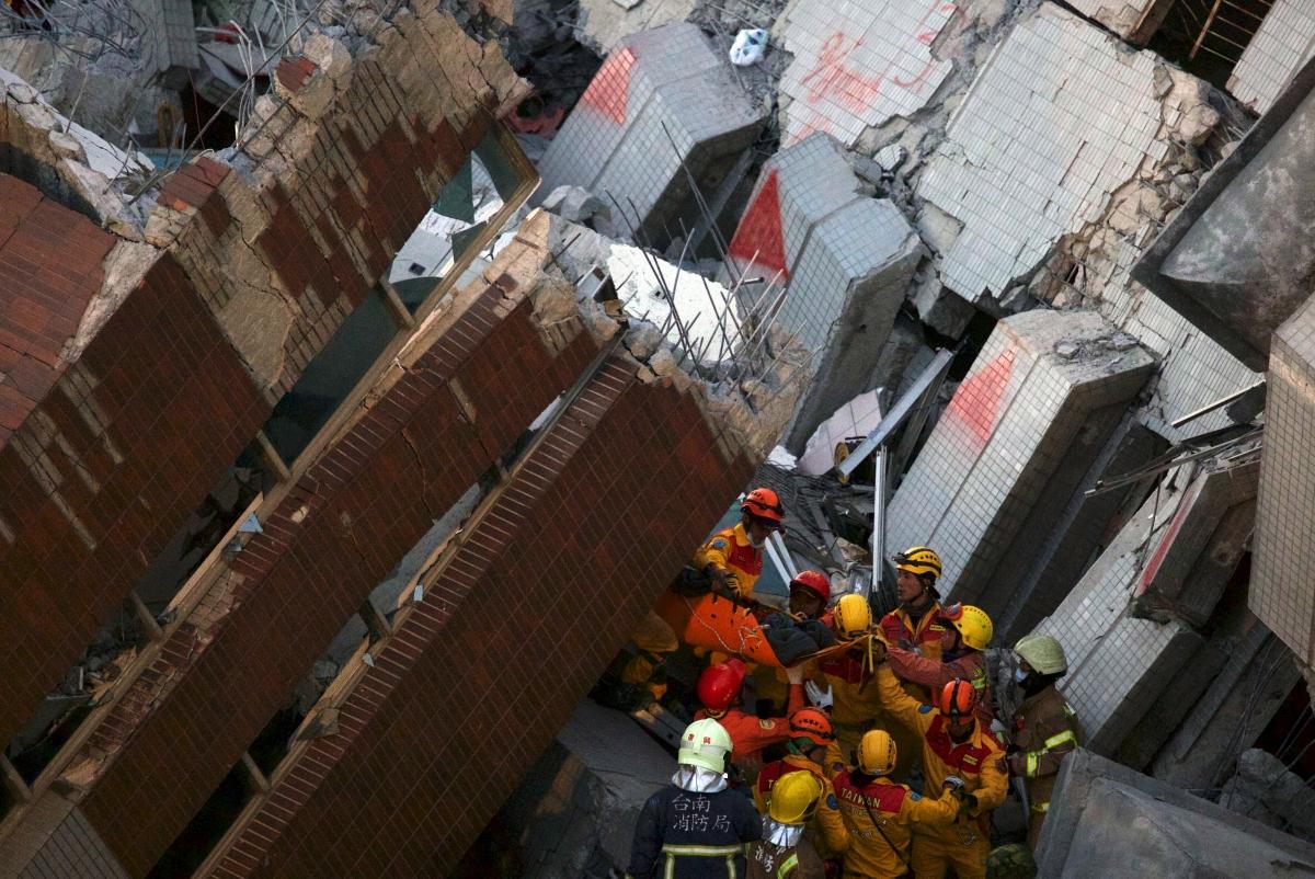 Tainan quake survivor