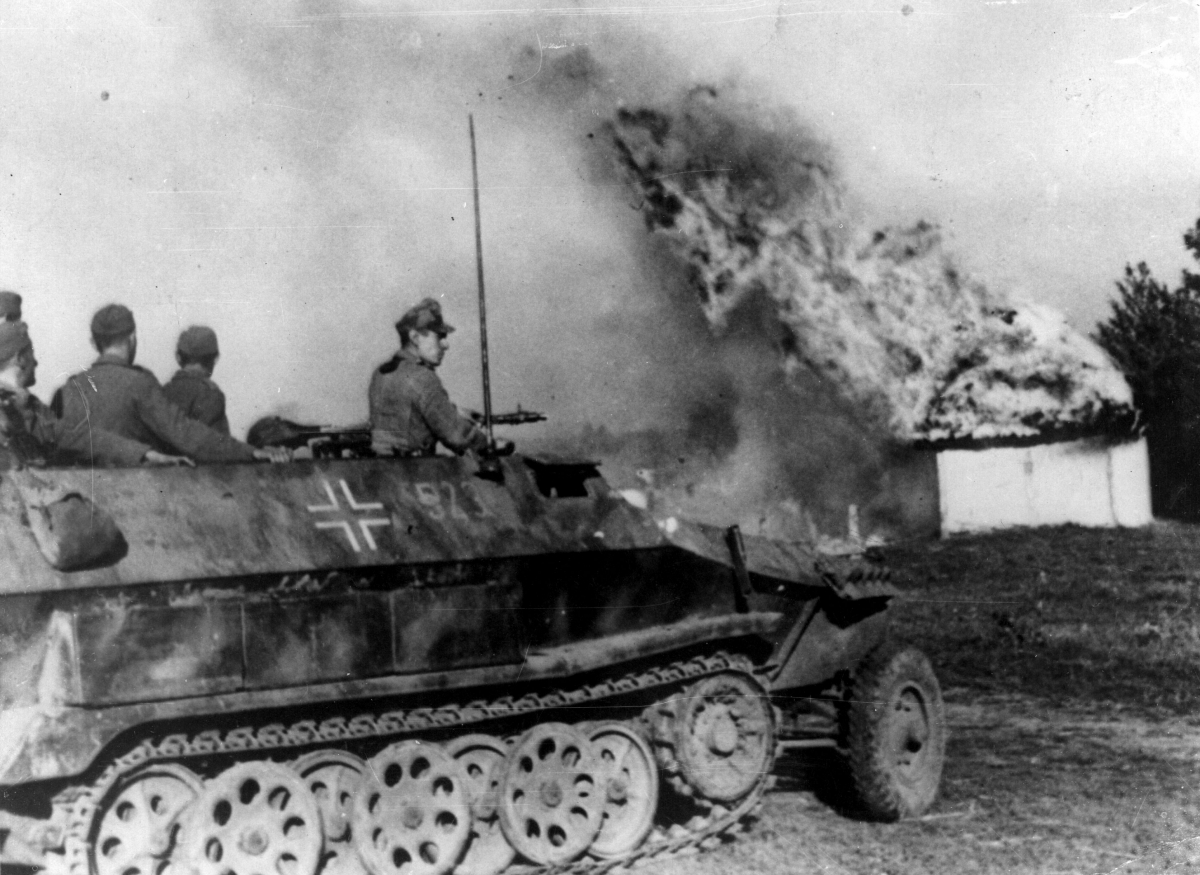 A German armopured vehicle