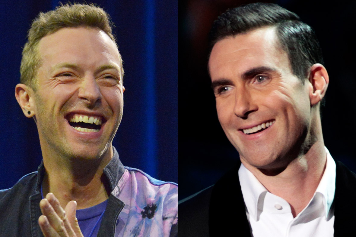 Chris Martin Adam Levine