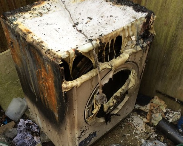Indesit tumble dyer fire