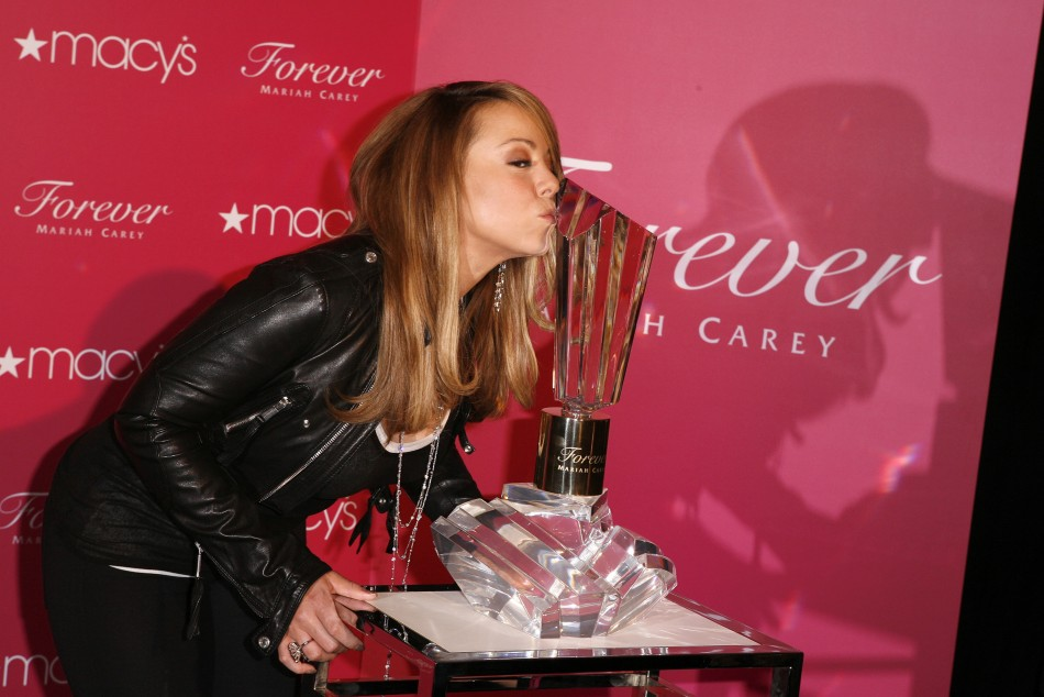Singer Mariah Carey promotes her new fragrance quotForeverquot, in New York