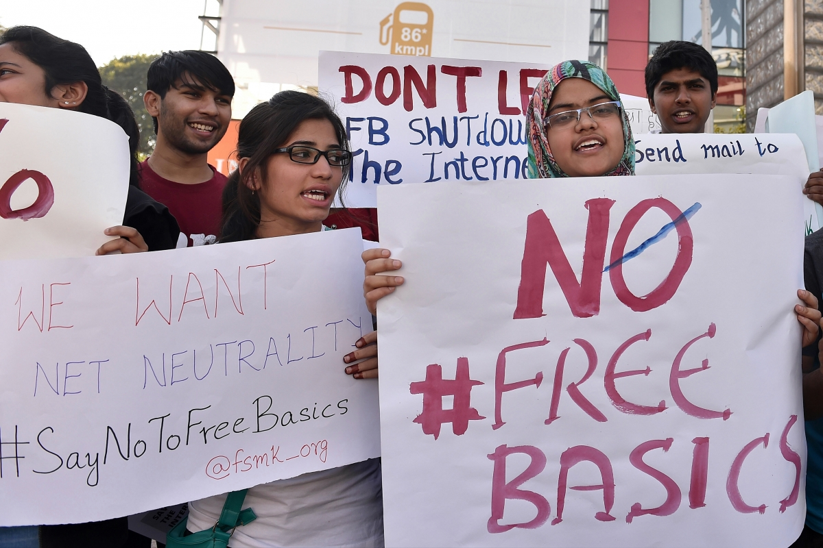 Free Basics protest in India