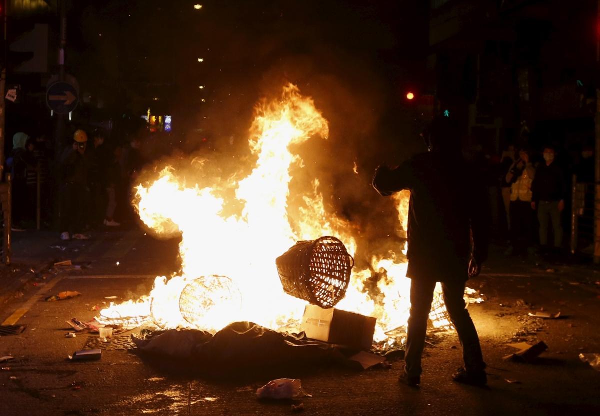 Hong Kong Mong Kok district riot