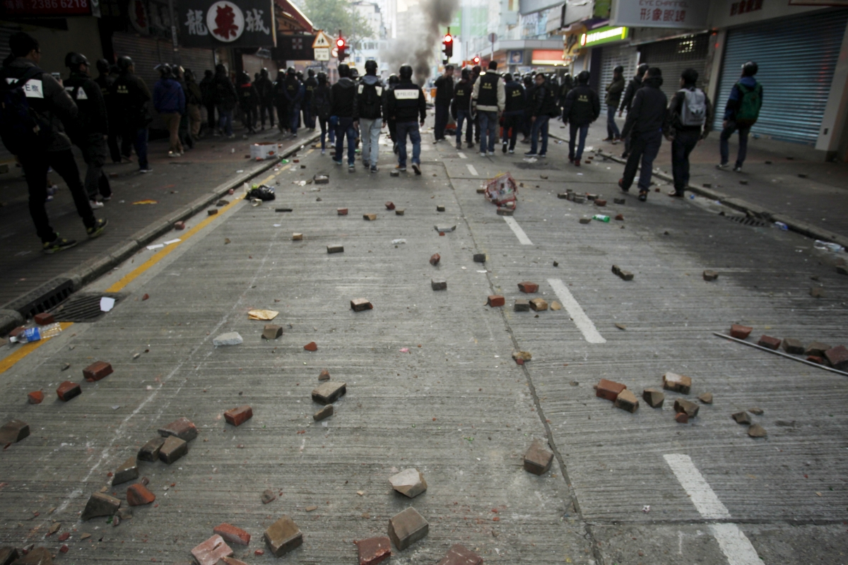 Hong Kong riot in Mong Kok district