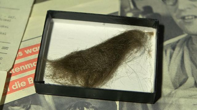 A lock of John Lennon's hair
