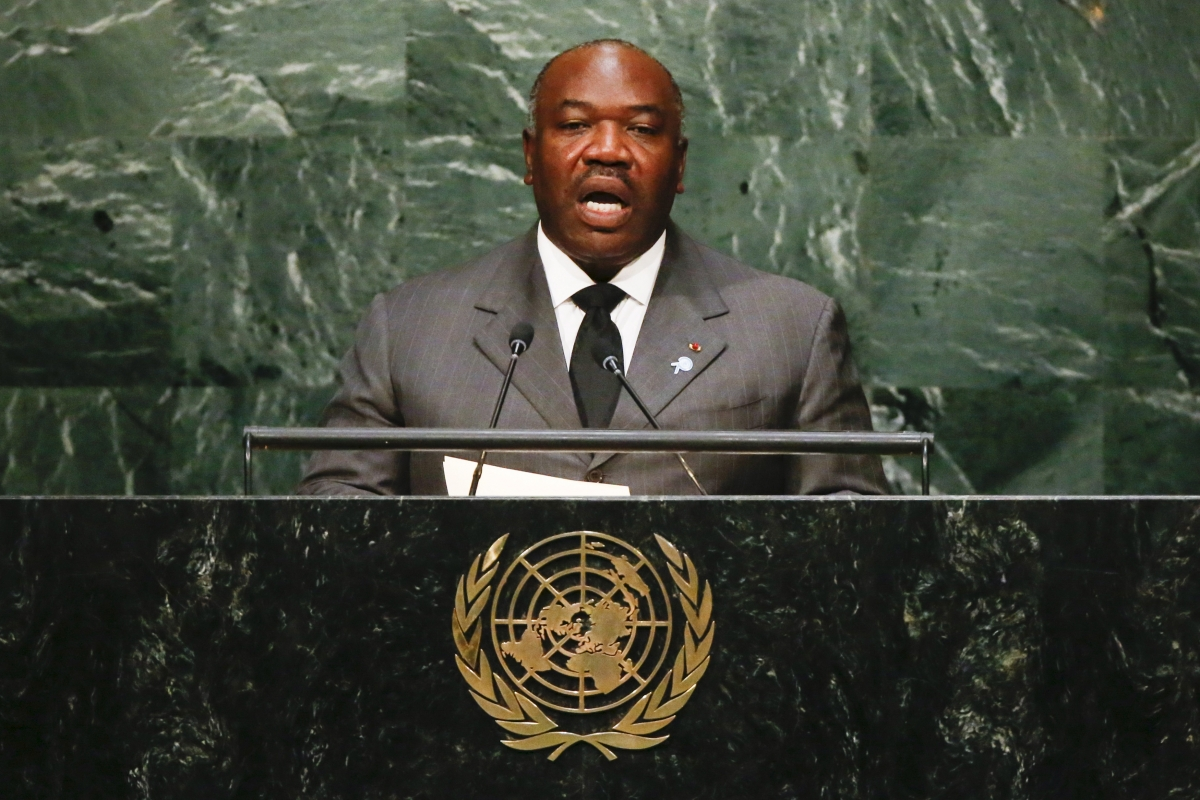 Gabon's president Ali Bongo Ondimba