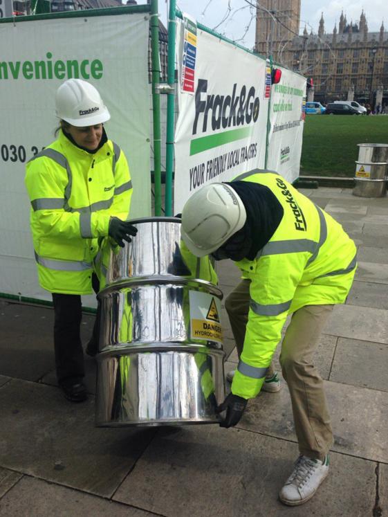 Greenpeace fracking in London
