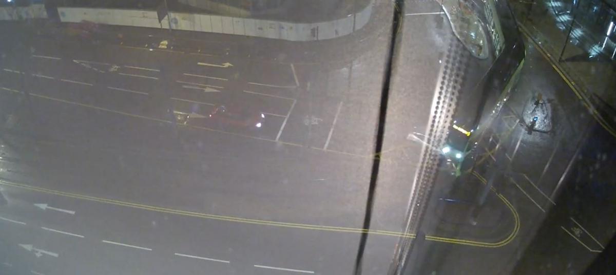 Car derails tram in Croydon