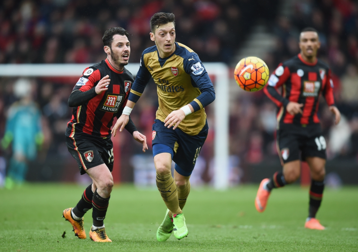 Mesut Ozil in action for the Gunners