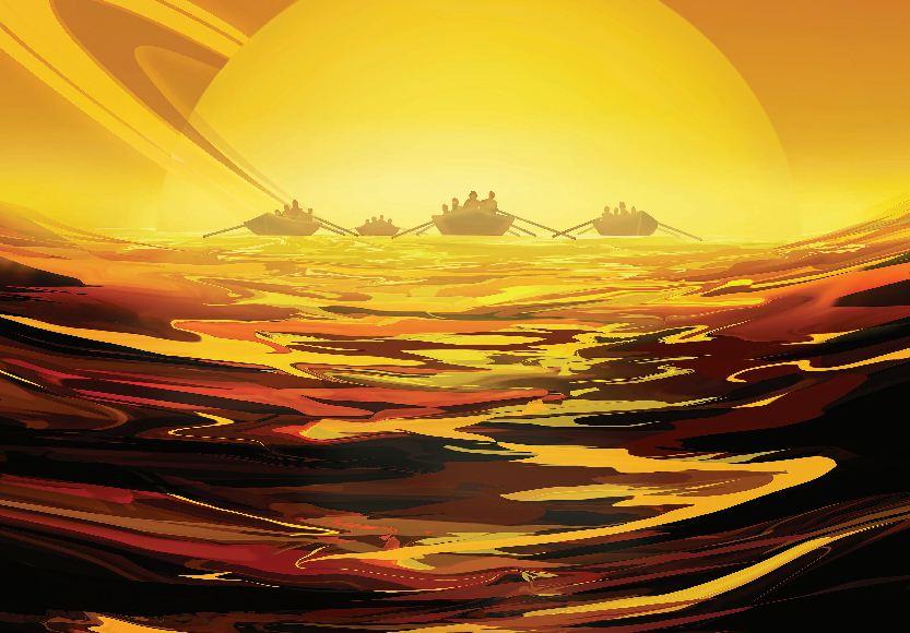 Space tourism poster-Titan