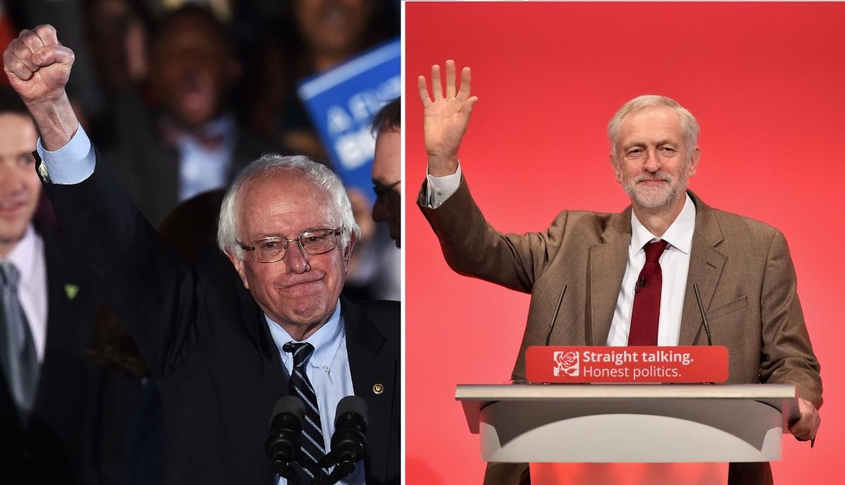 Bernie Sanders Jeremy Corbyn