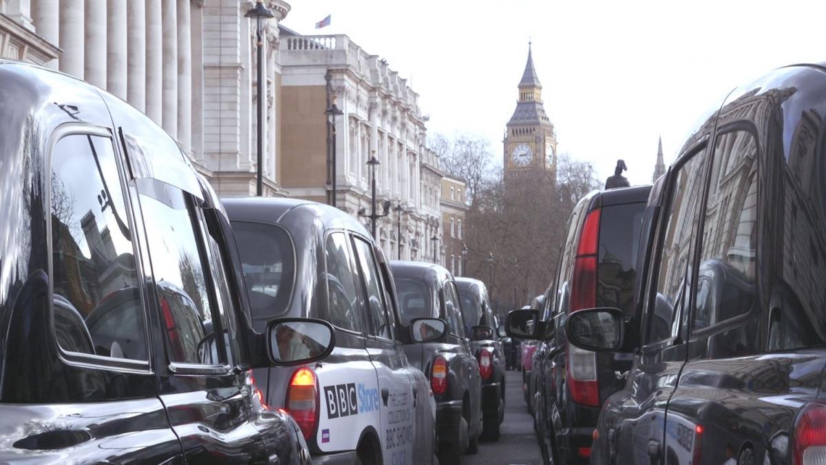 London black cab protest