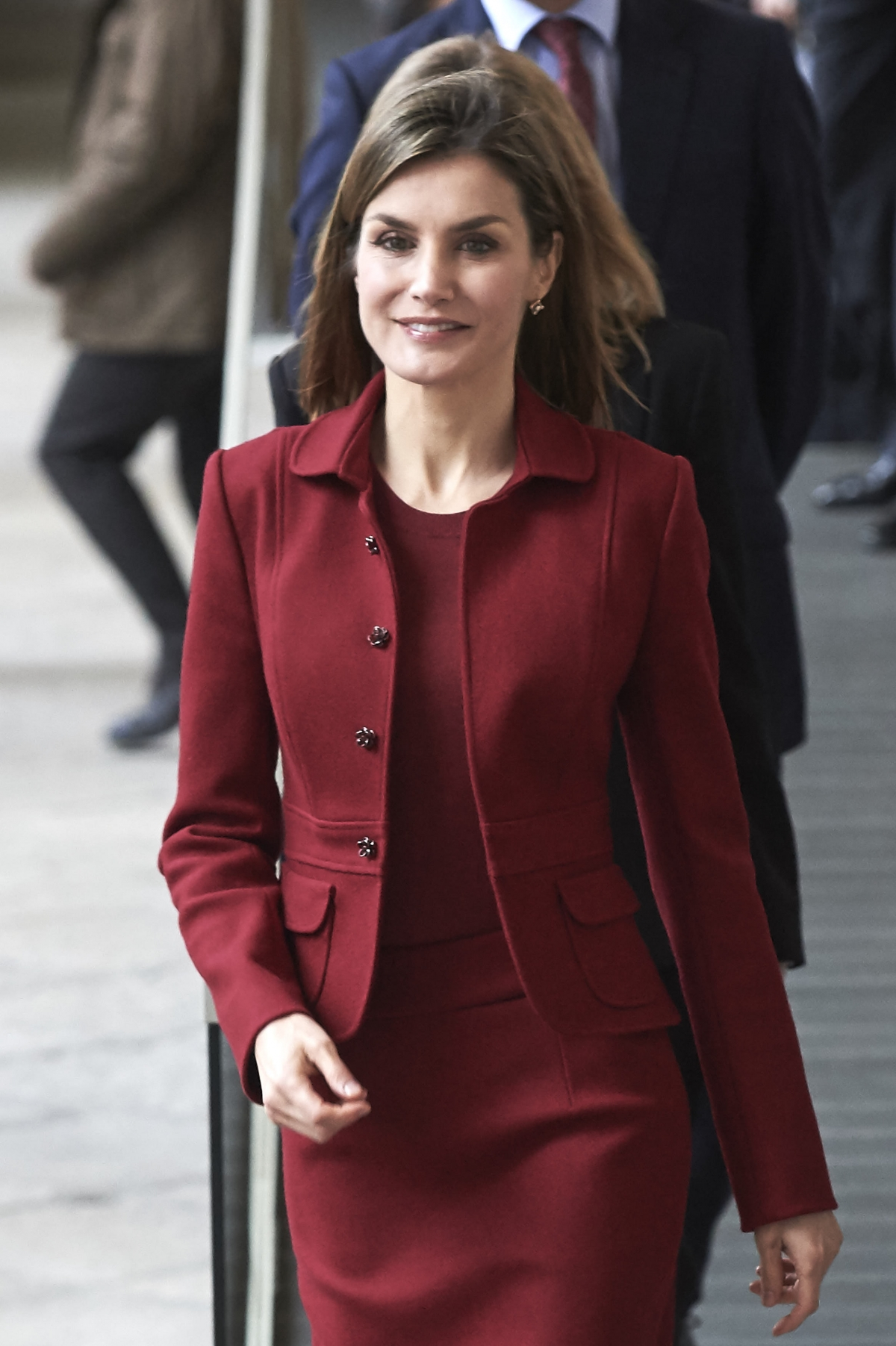 Spanish Queen Letizia Examines Renovations At 18th Century