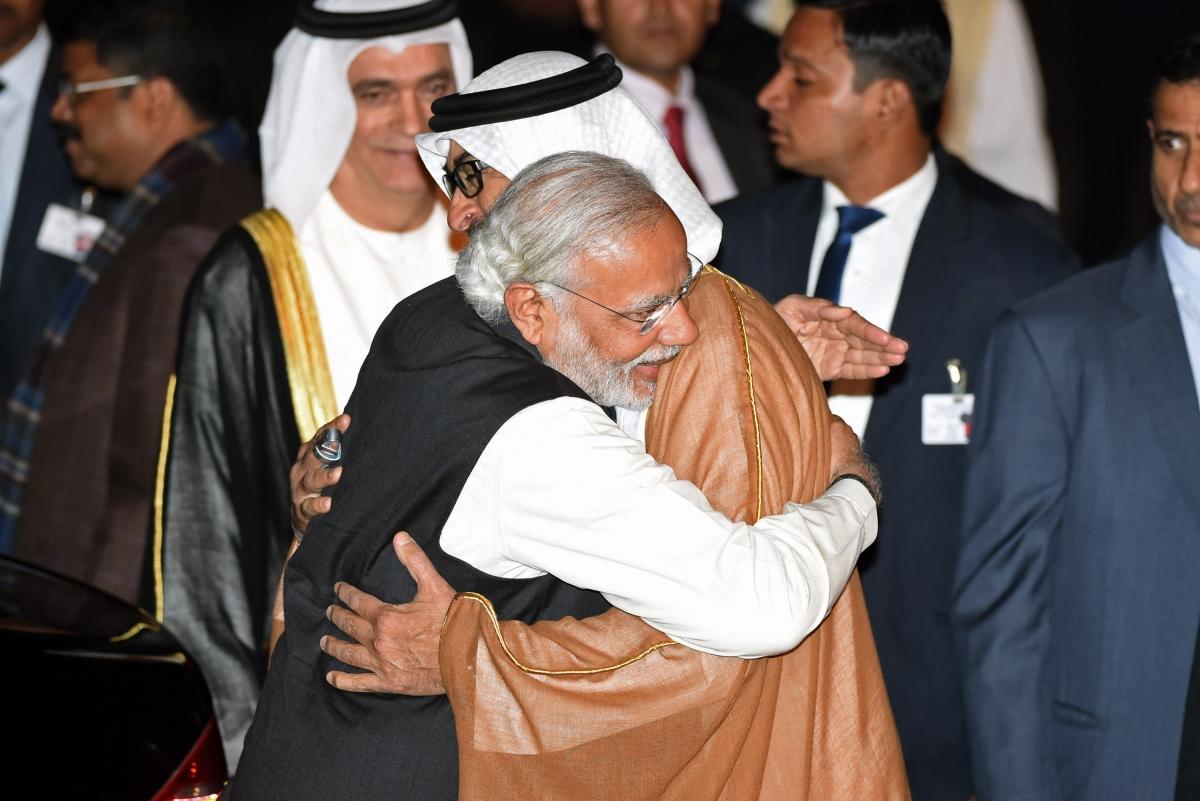 Narendra Modi and Sheikh Mohammed Bin Zayed Al Nahyan
