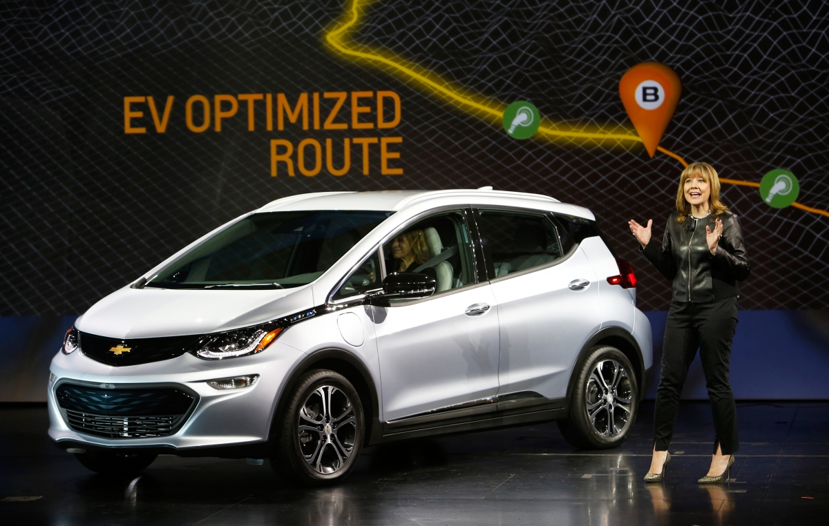 Chevrolet Bolt EV and Mary Barra