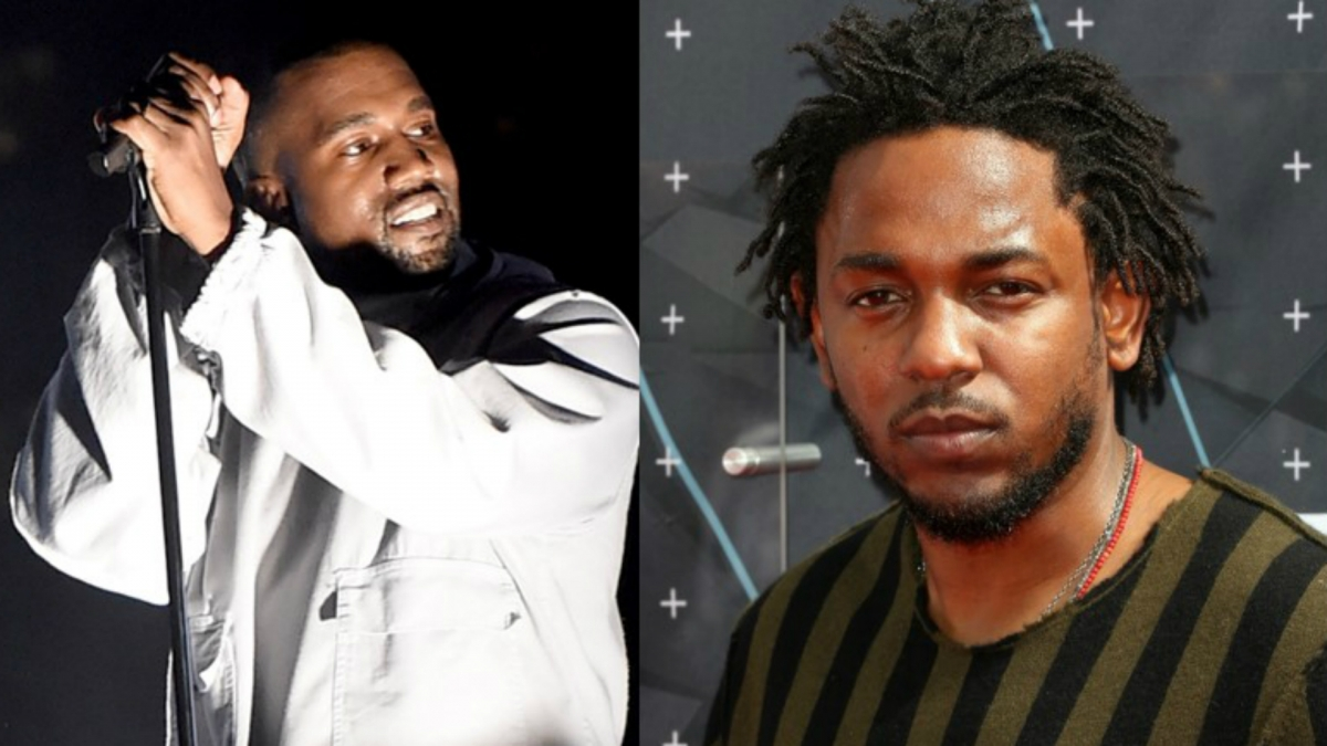 Kanye West and Kendrick Lamar
