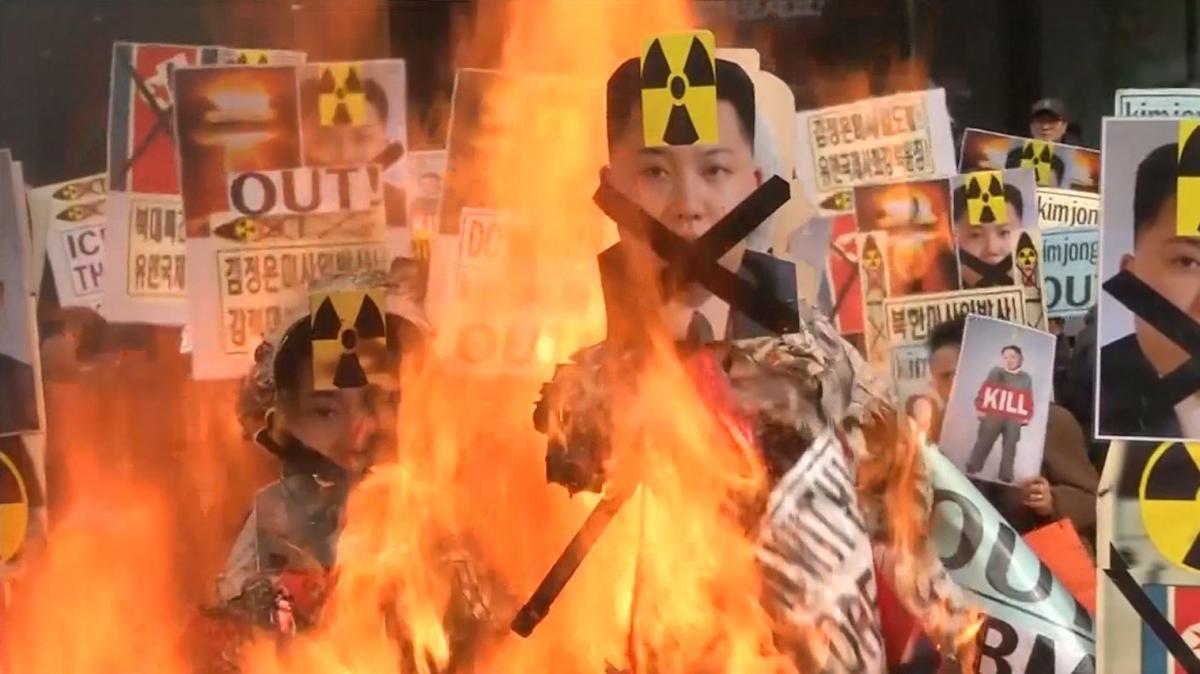 Anti-North Korea protest