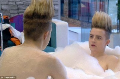 Jedward got into the bathtub
