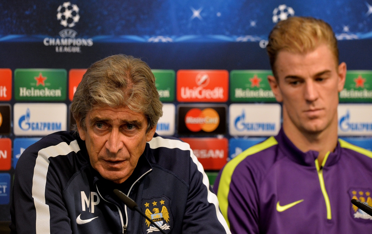 Manuel Pellegrini and Joe Hart