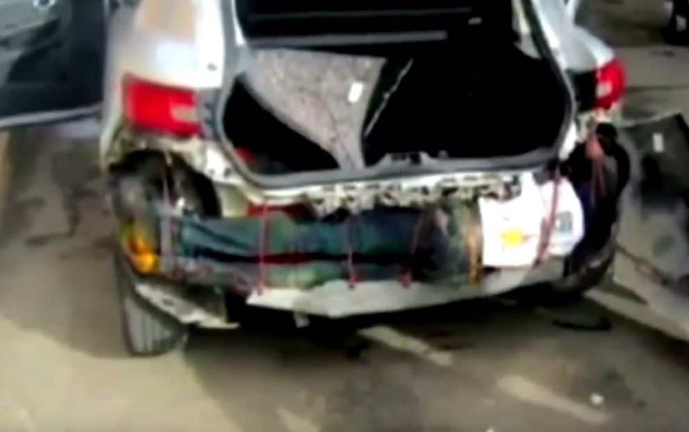 migrant car bumper