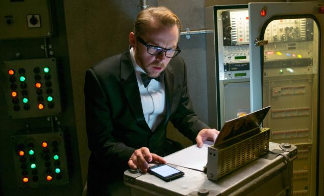 Simon Pegg in Mission Impossible Rogue Nation