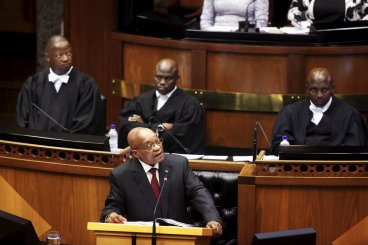 South Africa Jacob Zuma heckled