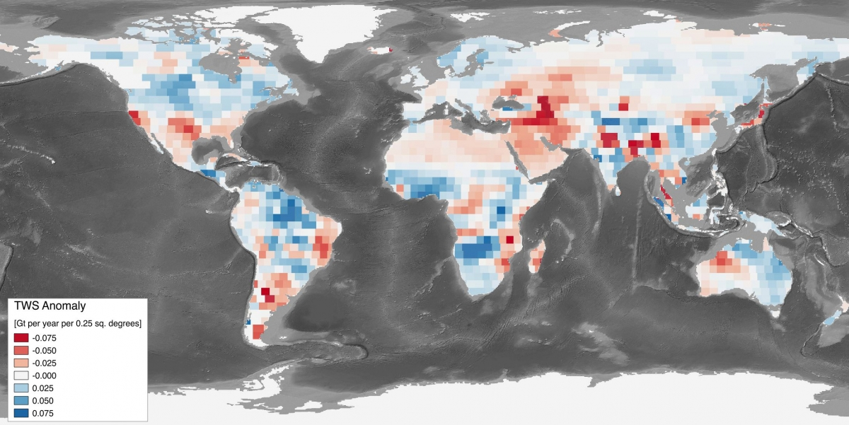 water storage trends nasa