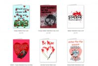 Stalking themed Valentine\'s Day cards