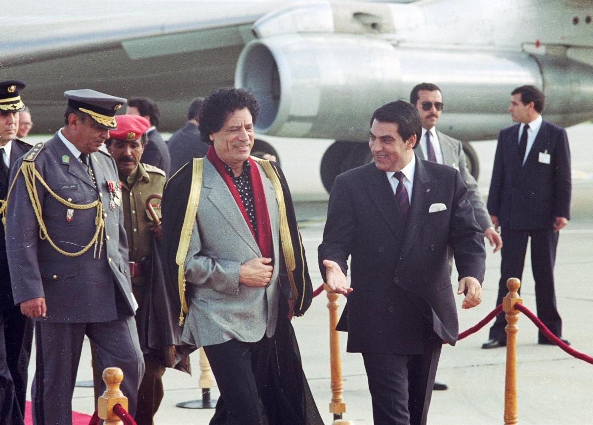 Gaddafi Ben Ali