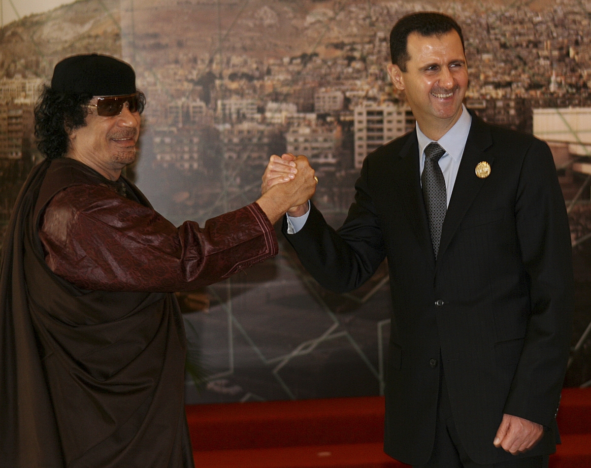 Arab Spring Assad Gaddafi