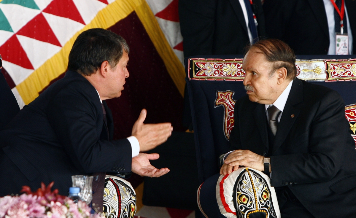 Jordans King Abdullah Abdelaziz Bouteflika