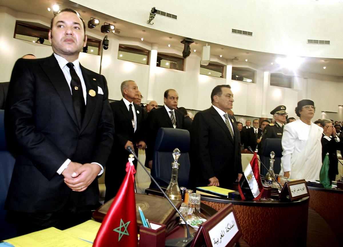 King Mohamed VI Mubarak Gaddafi