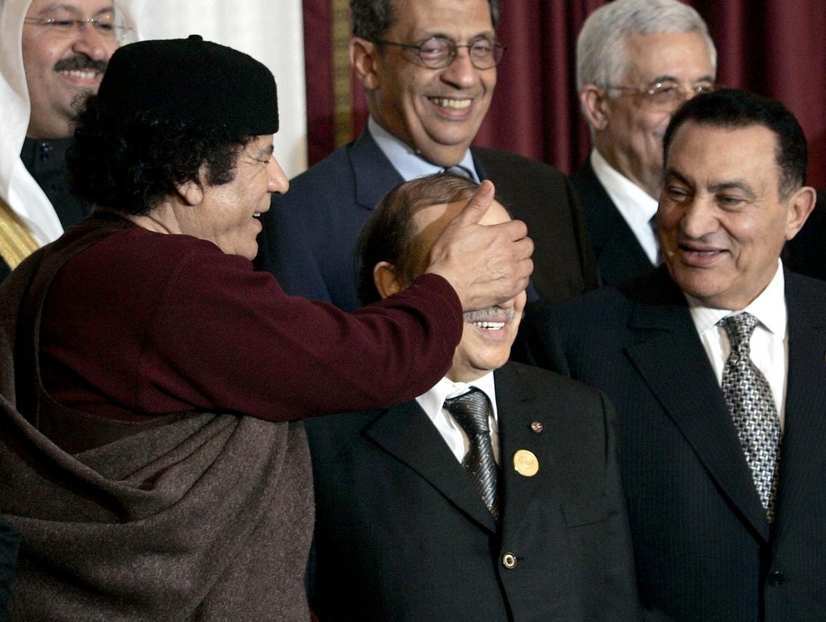 Gaddafi Bouteflika Mubarak