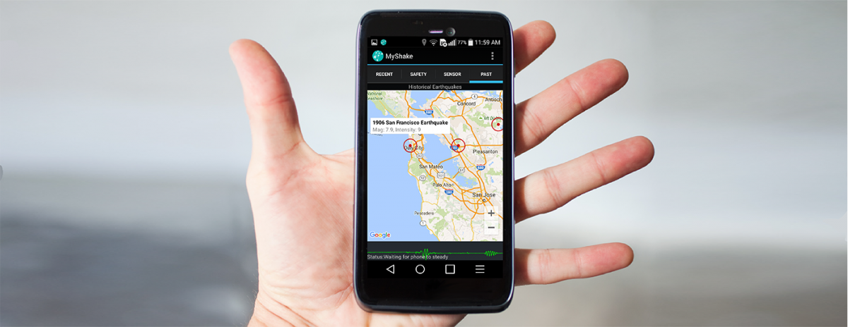 MyShake: Google Play's newest earthquake sensing app