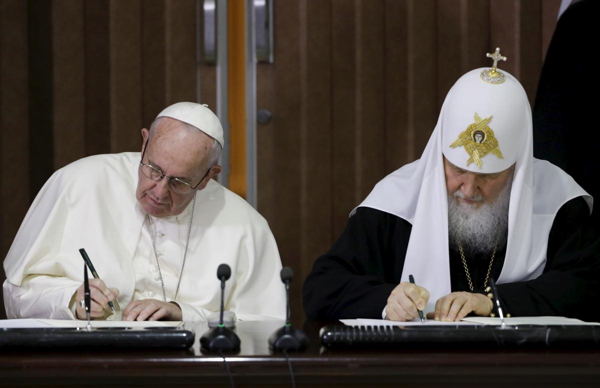 Pope Francis Patriarch Kirill Cuba